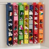 Narrow Canvas Hanging Closet Organizers