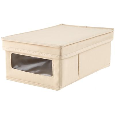 I Think I Canvas Shoe Box (Khaki)