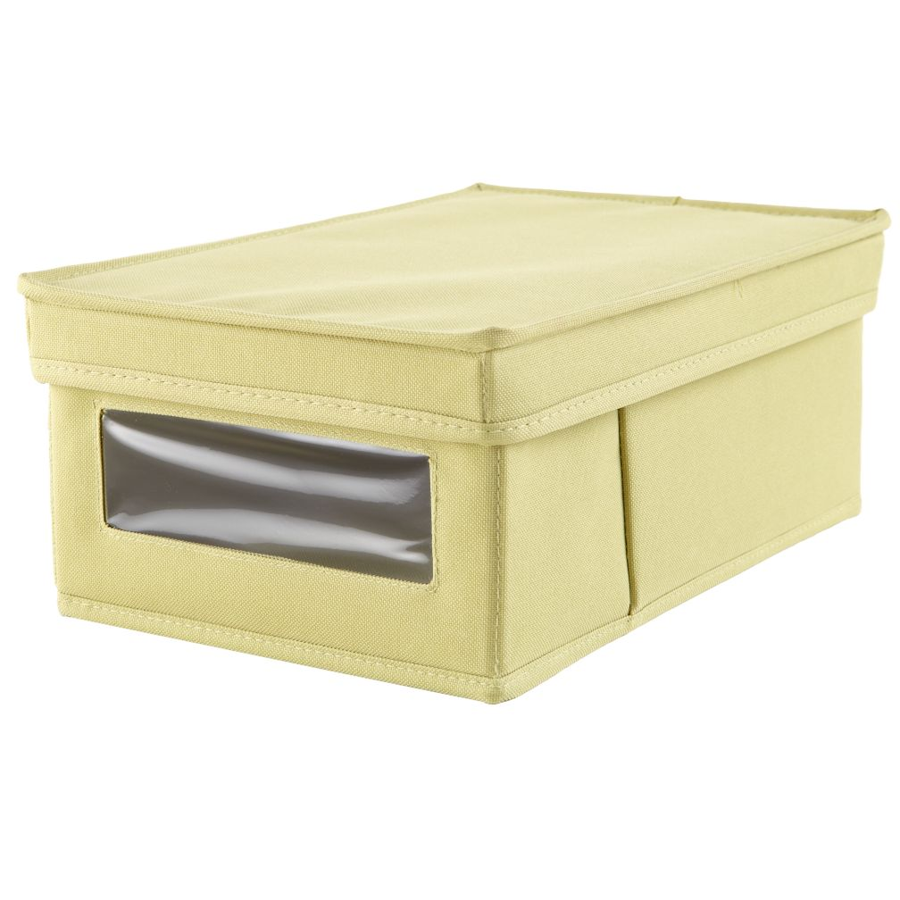 I Think I Canvas Shoe Box (Lt. Green)