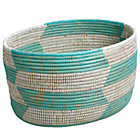 Charming Floor Bin (Herringbone/Aqua)