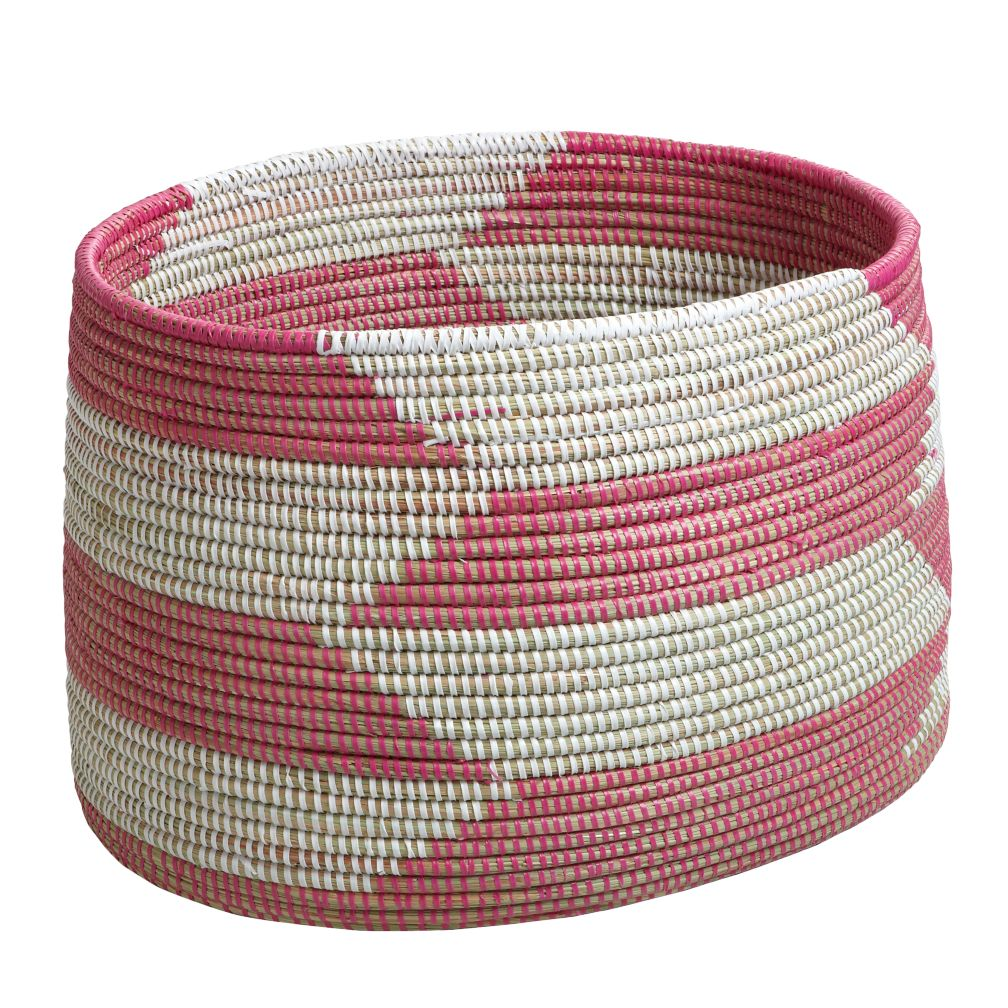 Charming Hamper (Herringbone/Pink)