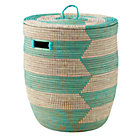 Charming Hamper (Herringbone/Aqua)