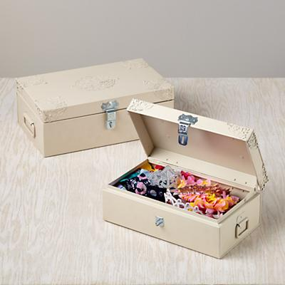 Doily Storage Boxes (Natural, Set of 2)