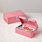 Pink Set of 2 Doily Boxes