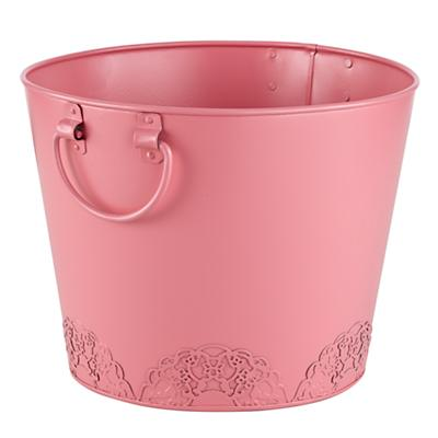 Doily Floor Bin (Pink)