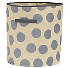 Grey Dotted Floor Bin