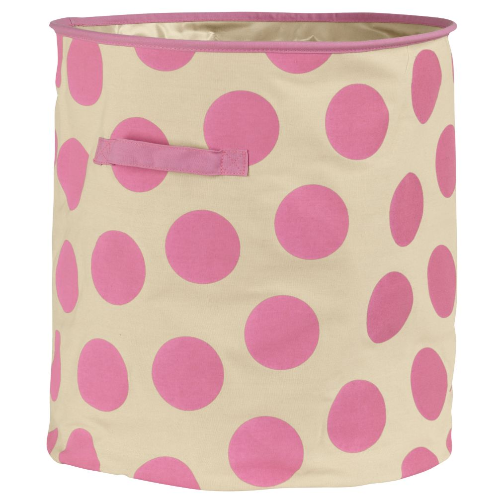 Dotted Floor Bin (Pink)