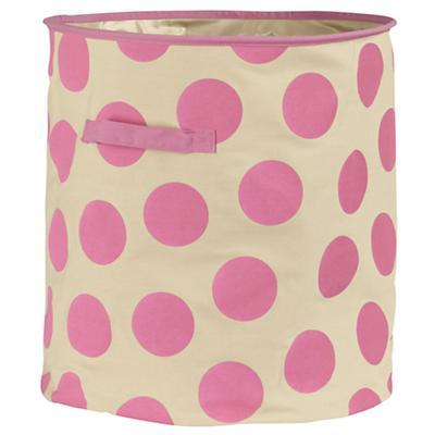 Dotted Floor Bin (Pink)