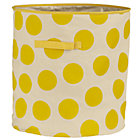 Yellow Dotted Floor Bin