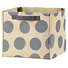 Grey Dotted Cube Bin