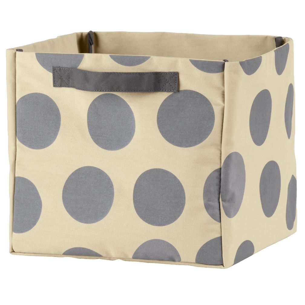 Dotted Cube Bin (Grey)