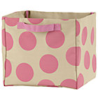 Pink Dotted Cube Bin
