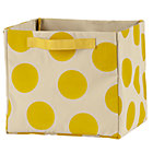 Yellow Dotted Cube Bin