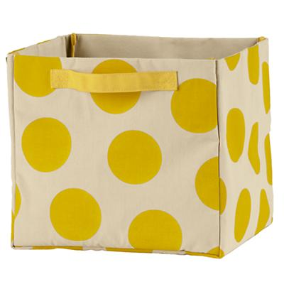 Dotted Cube Bin (Yellow)