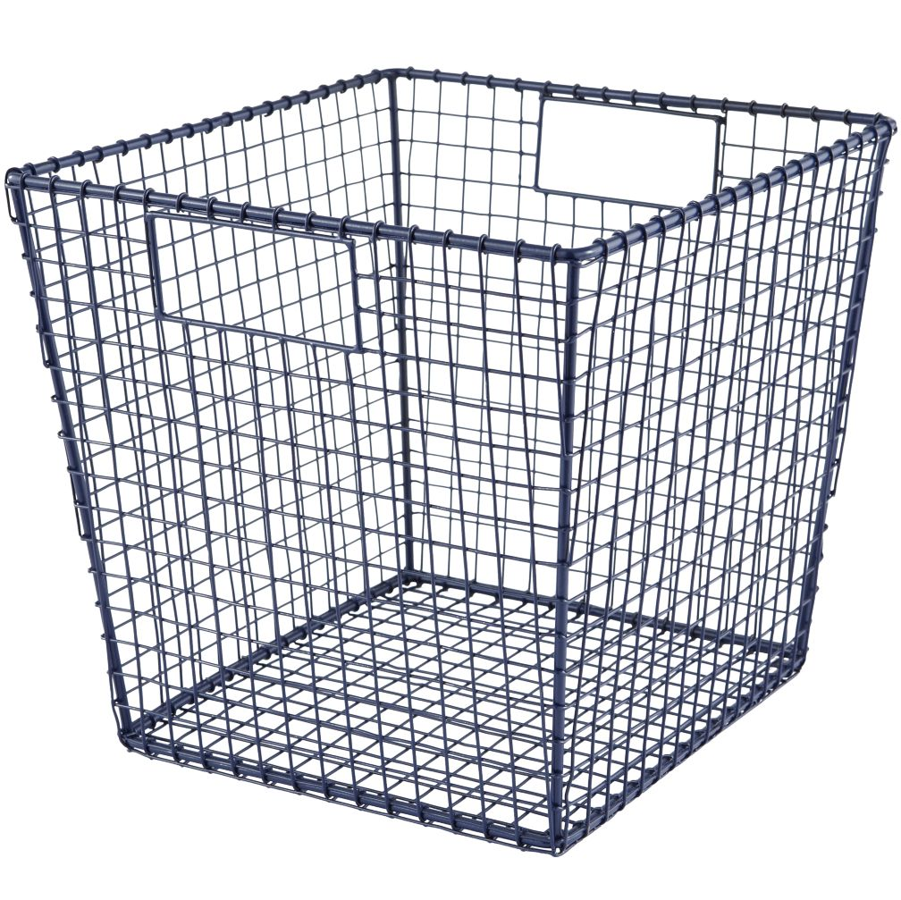 Down to the Wire Cube Bin (Blue)
