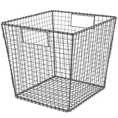 Down to the Wire Cube Bin (Grey)