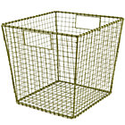 Green Down to the Wire Cube Bin
