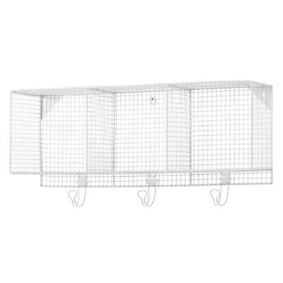 Down to the Wire 3-Cube Wall Shelf (White)