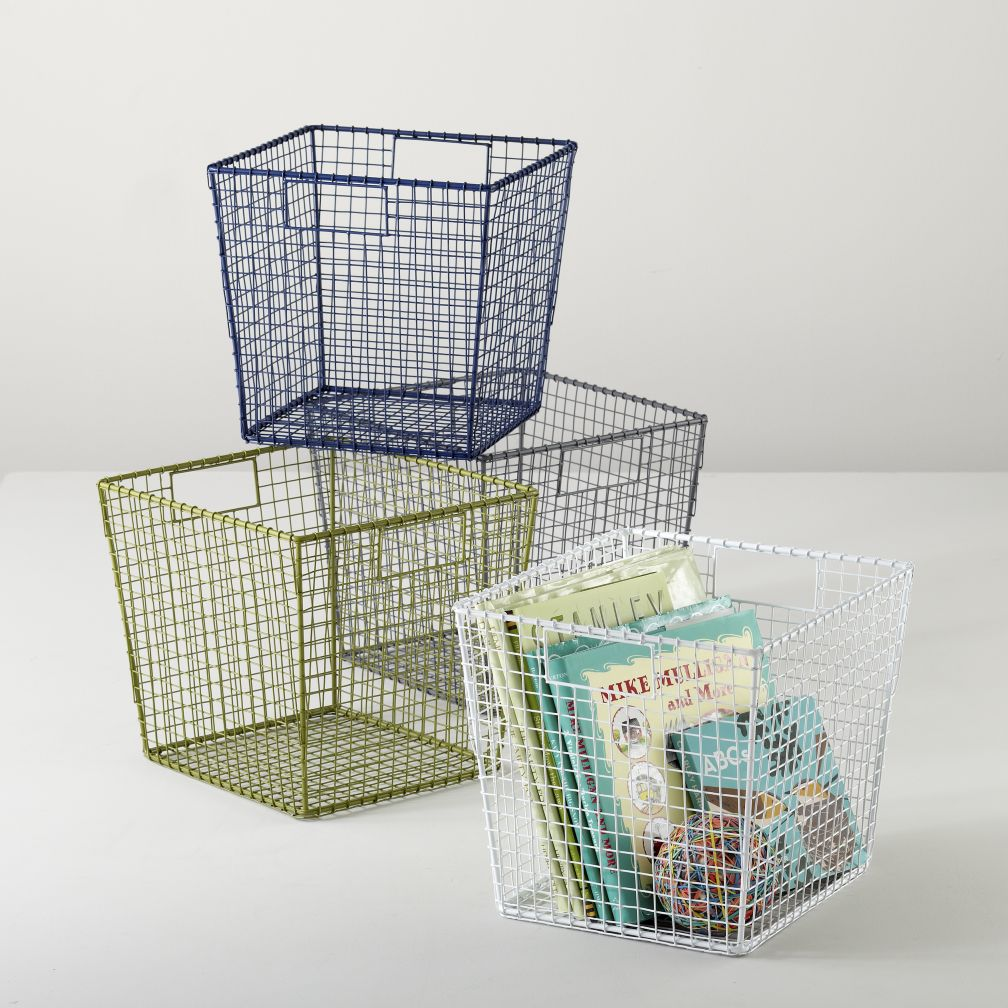 Down to the Wire Cube Bins