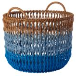 Fade Up Rattan Floor Basket (Blue)