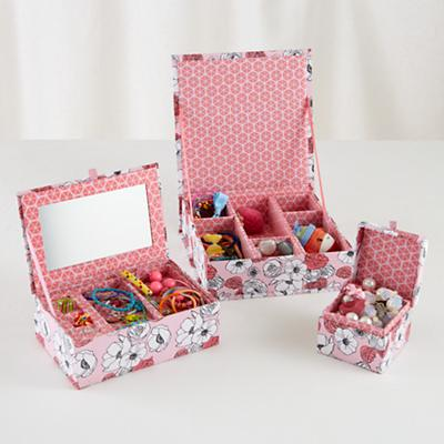 Flower Girl Storage Boxes (Pink)