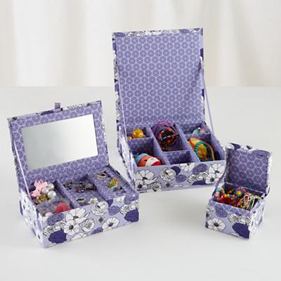 Flower Girl Storage Boxes (Purple)