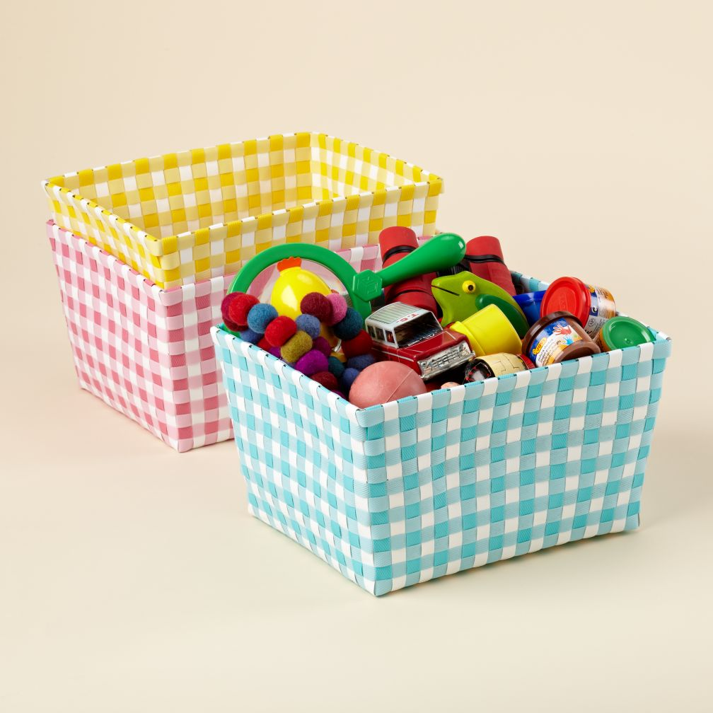 Bring In The Gingham Shelf Bins