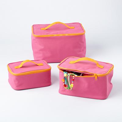 Pink Grab Bag Carrying Cases (Set of 3)