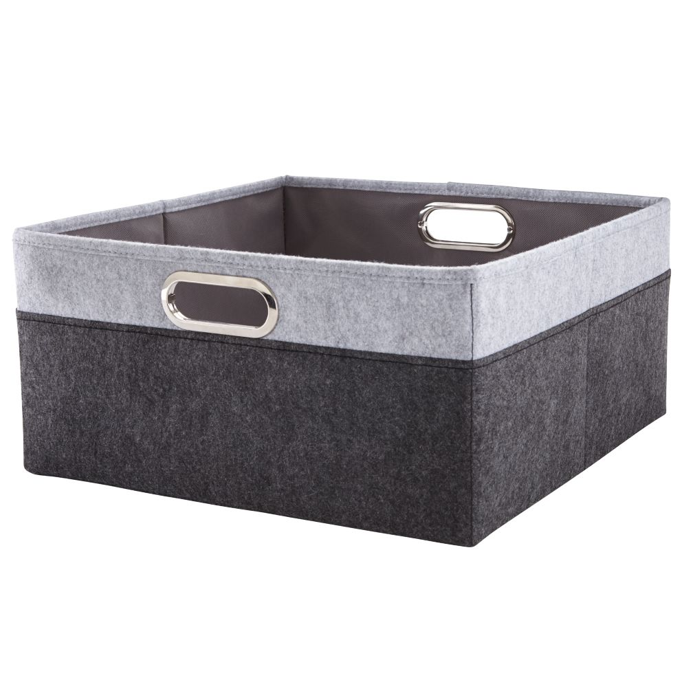 Greyscale Large Changer Basket
