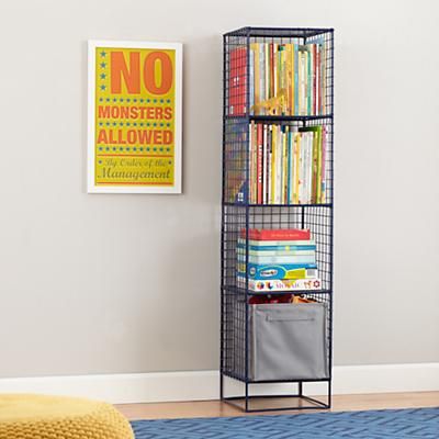 On the Grid Bookcase (Navy)