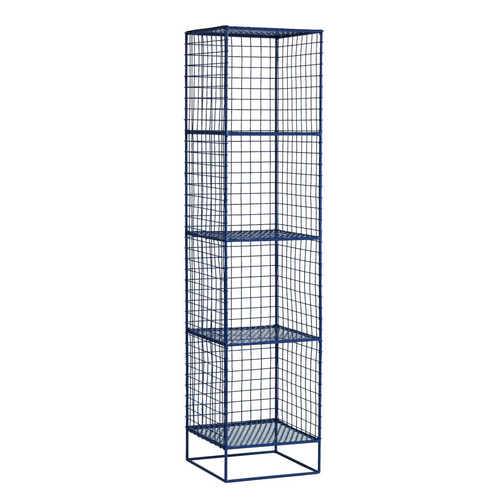 On the Grid 4-Cube Bookcase (Navy)