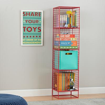 On the Grid Bookcase (Red)