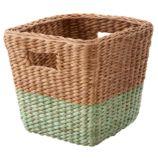Half Tone Cube Basket (Green)