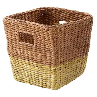 Half Tone Cube Basket (Yellow)