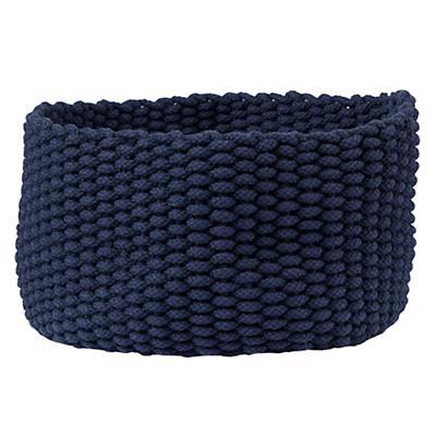 Medium Kneatly Knit Rope Bin (Dk. Blue)