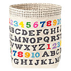 Alphabet Print Landscape Floor Bin