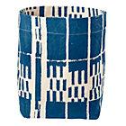Blue Organic Landscape Floor Bin