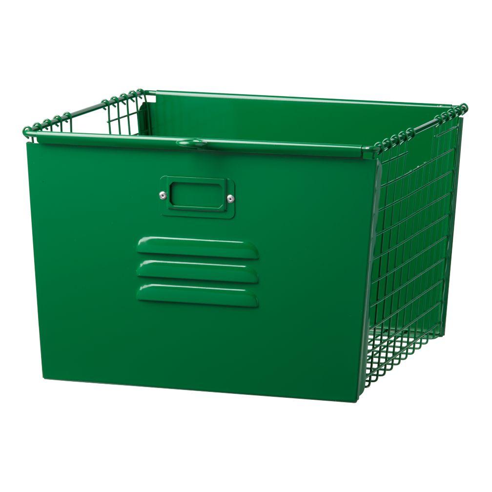 Saved by the Cube Bin Locker Basket (Dk. Green)
