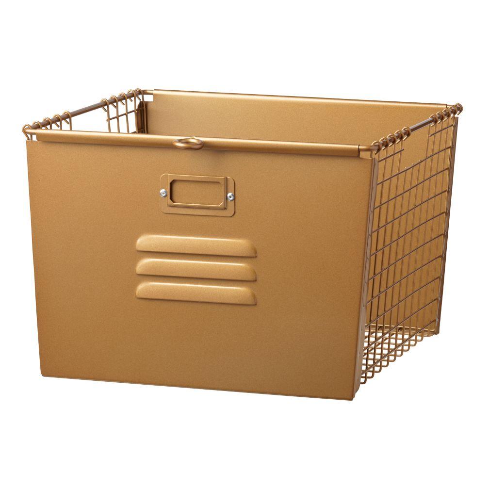 Saved by the Cube Bin Locker Basket (Gold)