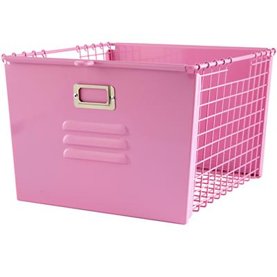 Saved by the Cube Bin Locker Basket (Pink)
