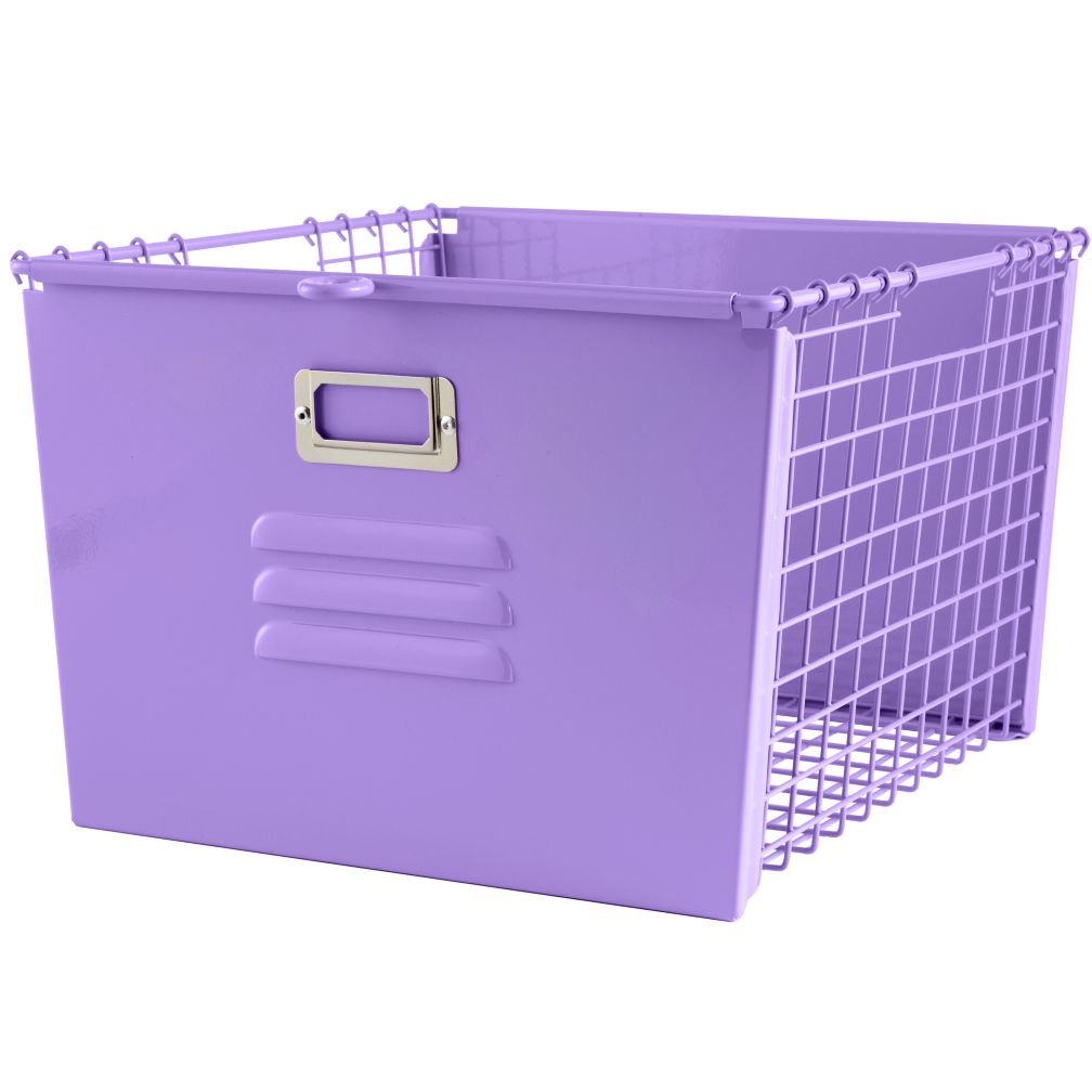 Saved by the Cube Bin Locker Basket (Purple)