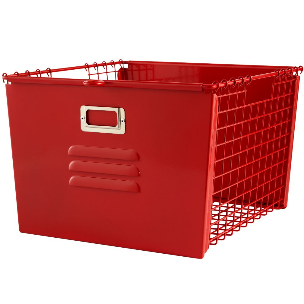 Saved by the Cube Bin Locker Basket (Red)