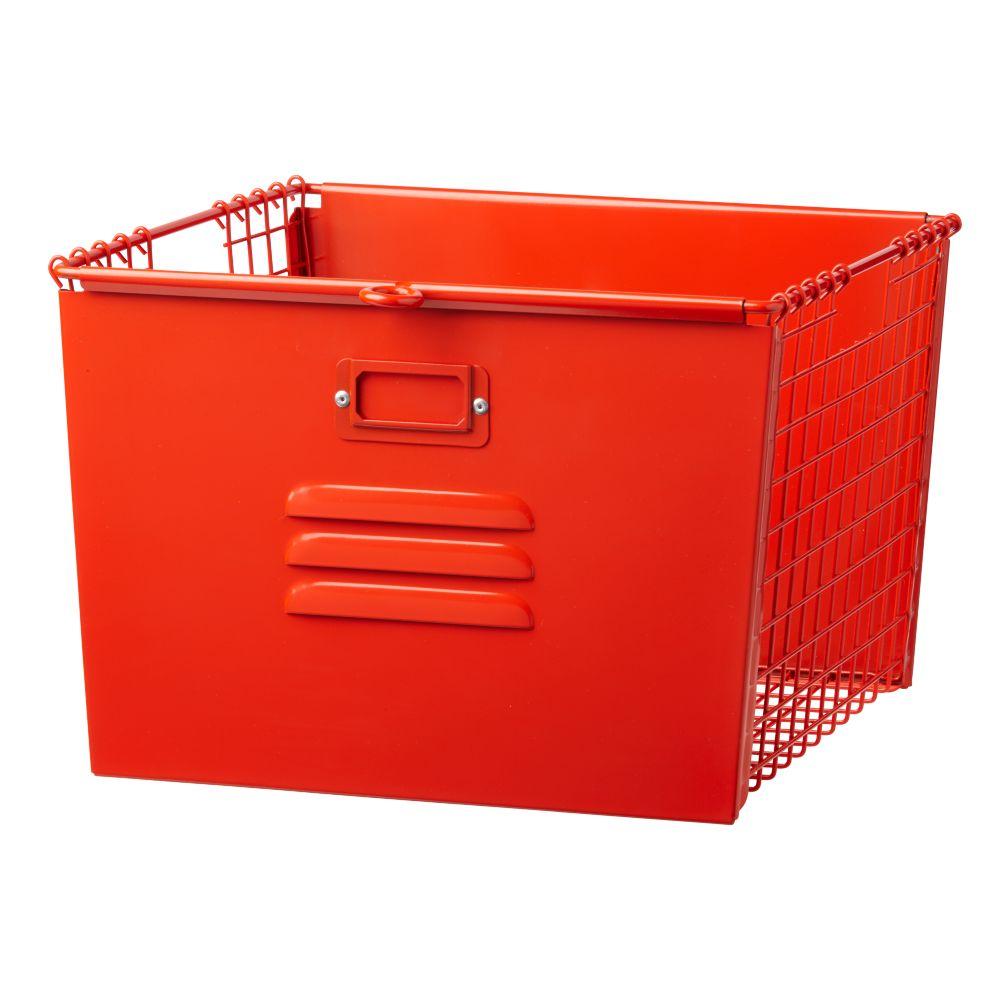 Saved by the Cube Bin Locker Basket (Red-Orange)