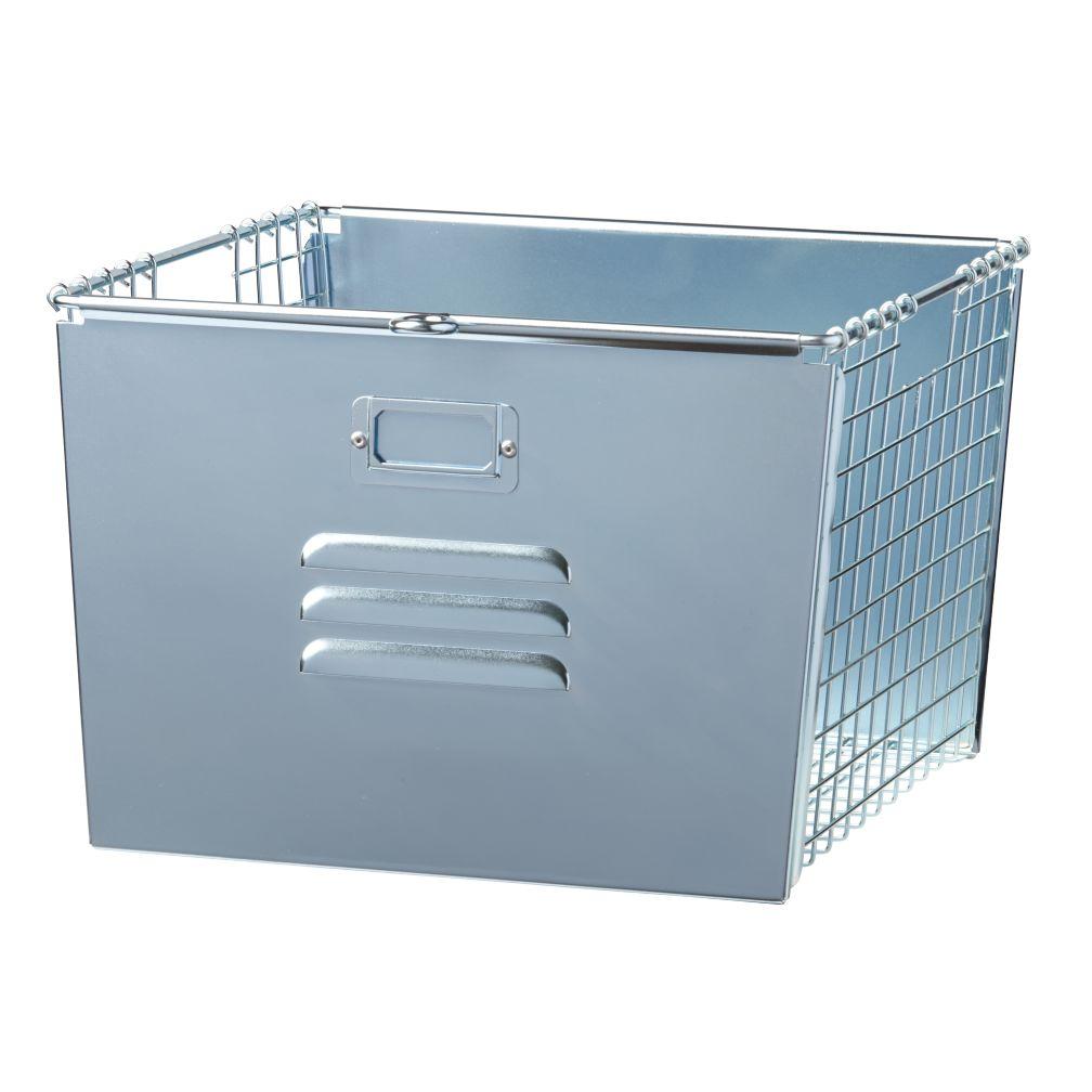 Saved by the Cube Bin Locker Basket (Silver)