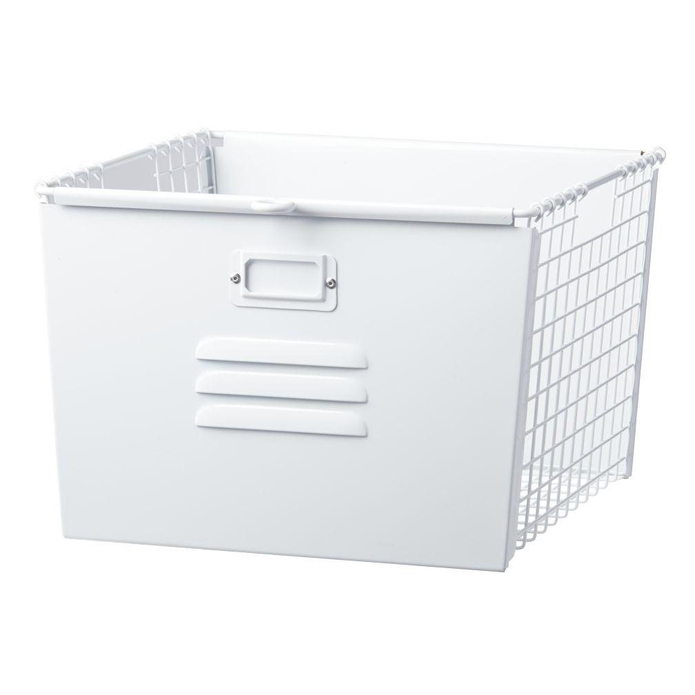 Saved by the Cube Bin Locker Basket (White)