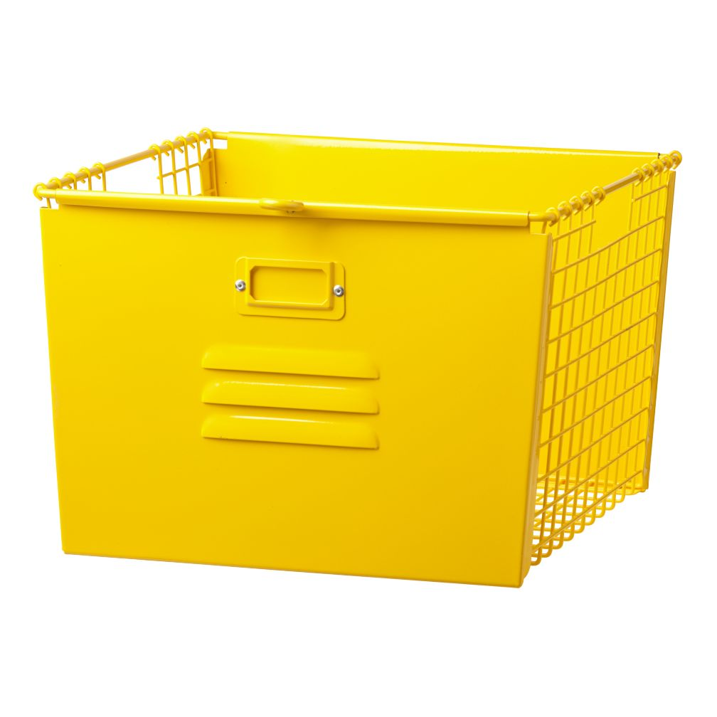 Saved by the Cube Bin Locker Basket (Bright Yellow)