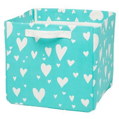 Love Struck Organic Cube Bin (Aqua)