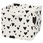 Black Love Struck Heart Cube Bin
