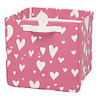 Pink Love Struck Heart Cube Bin