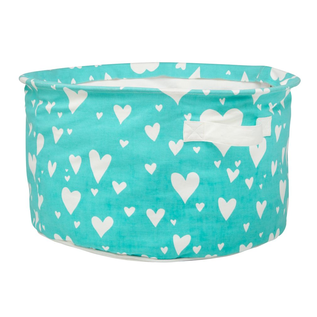 Love Struck Organic Floor Bin (Aqua)